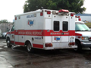 アメリカ・メディカル・レスポンスの救急車